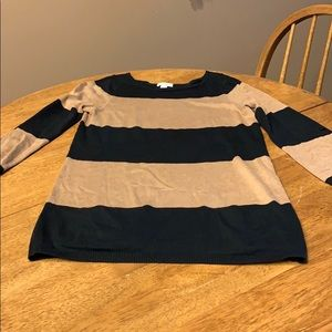 Brown and black 3/4 sleeve Tunic Sweater